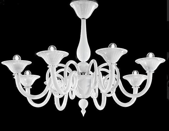 Plafoniere Classiche In Vetro Di Murano : Offio 1382 8 di sylcom. lampadario classico luci. vetro soffiato