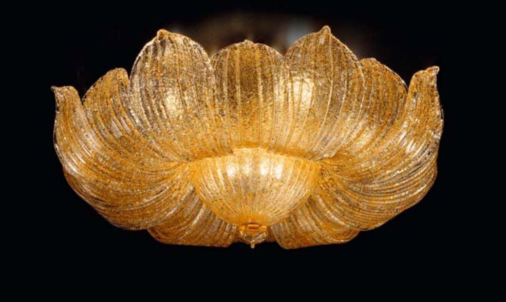 Plafoniere Classiche In Vetro Di Murano : Di sylcom lampada da tetto in vetro soffiato murano