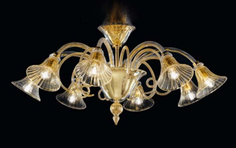 Plafoniere Vetro Soffiato : Di sylcom lampada da tetto luci in vetro soffiato murano