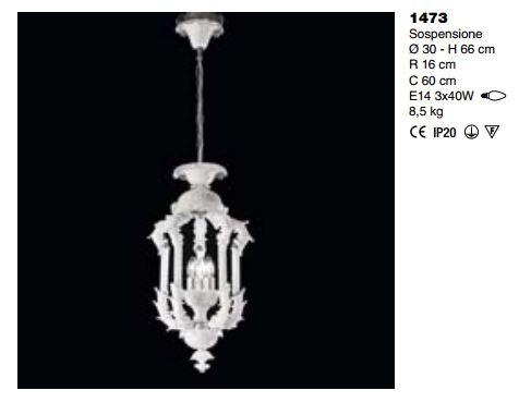 lampadari sylcom : 1473 di SYLCOM. Lanterna classica 3 luci. Struttura: vetro soffiati di ...