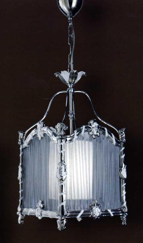 Sospensione decorativa, struttura: metallo decoro platino ...