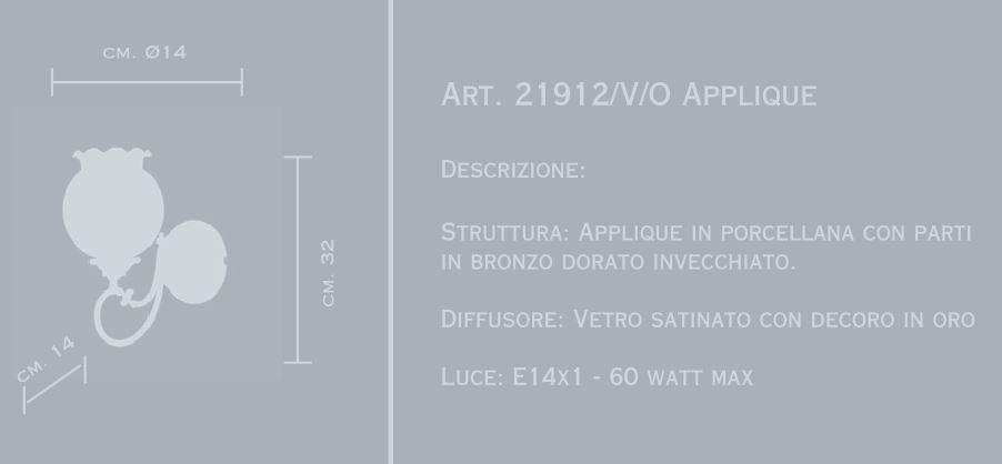 21912 di MANGANI. Lampada da parete classica. Struttura ...