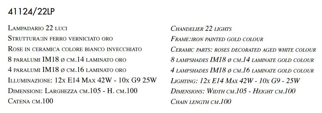 imas lampadari : 41124 22LP lampadario classico 22 luci. Disponibile in diverse misure ...