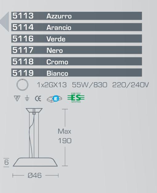 Outlet illuminazione sospensione moderna 5144 di for Oggettistica moderna on line