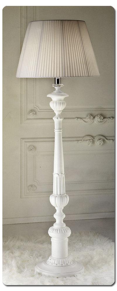 Lampada da terra stelo metallo e legno intagliato - Lampade da giardino da terra ...