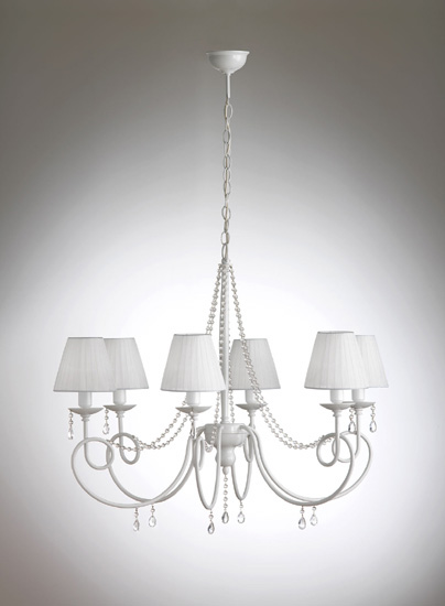 Olga 928 6 p di gibas lampadario 6 luci collezione di for Oggettistica moderna on line