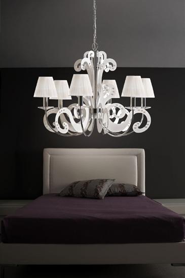 Panama 131 6 6 p di gibas lampadario collezione di lampade - Lampadari per camera da letto moderna ...