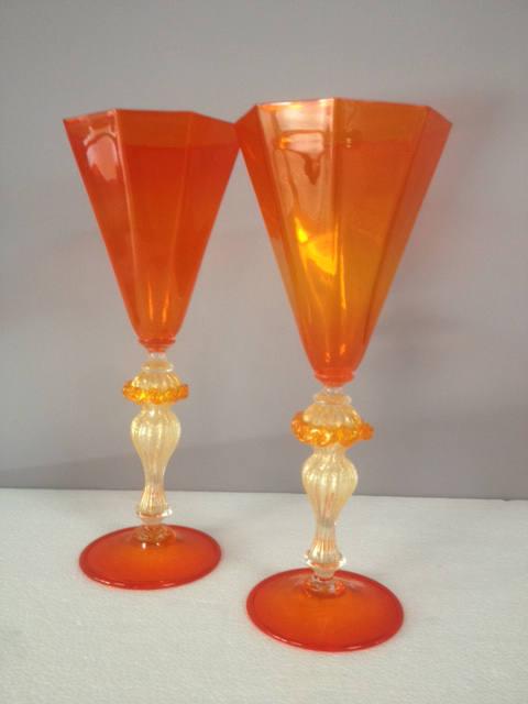Bicchiere da collezione ottagonale Arancio, 2 pezzi disponibili, sconto 50%, prezzo scontato 128,10 Euro
