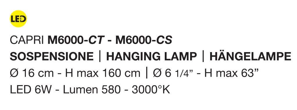 Capri led m6000 di micron sospensione moderna faretto for Oggettistica moderna on line