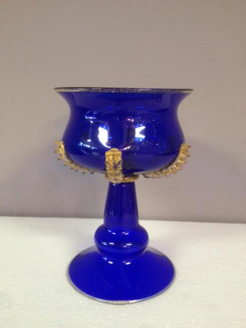 Coppa Bassa Blu/Oro, 1 pezzo disponibile, sconto 50%, prezzo scontato 183,05 Euro