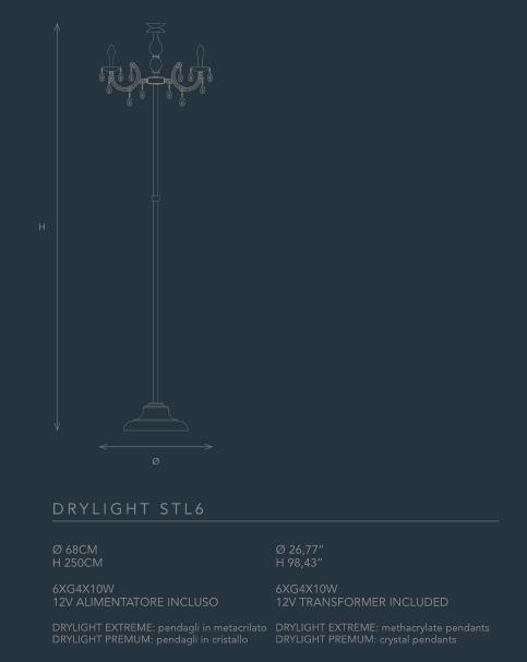 Lampada da terra drylight stl6 di masiero for Oggettistica moderna on line