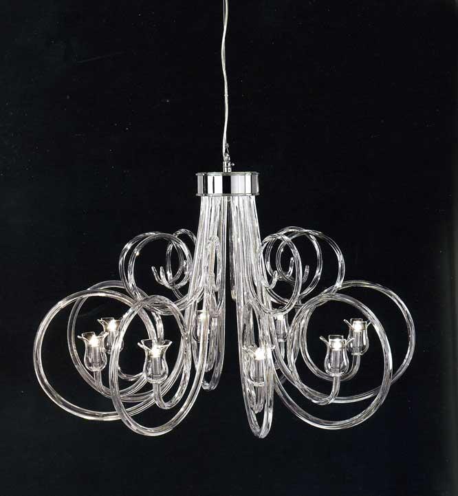 lampadari murrina outlet : perseo di italamp sku it1234lc lampadario 8 luci bracci vetro soffiato ...