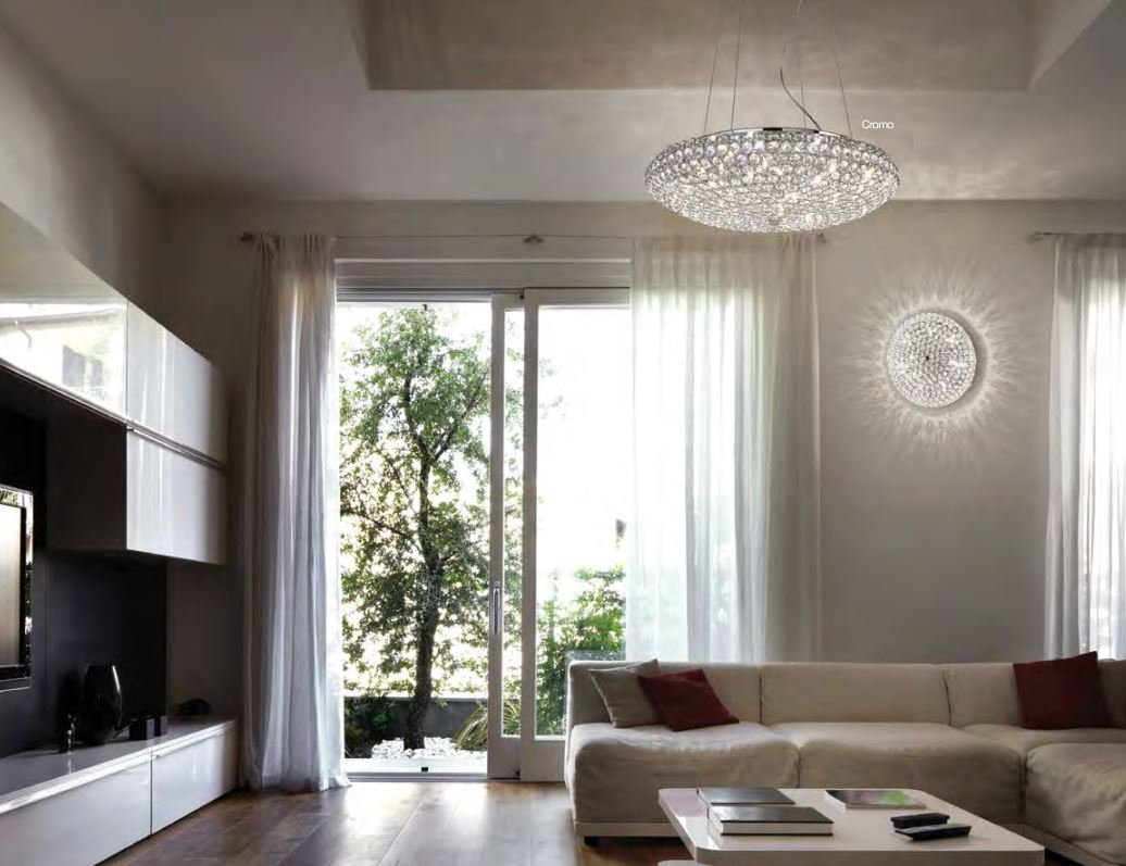 Plafoniera Tetto : King pl di ideallux. lampada da tetto in cristallo finitura oro o