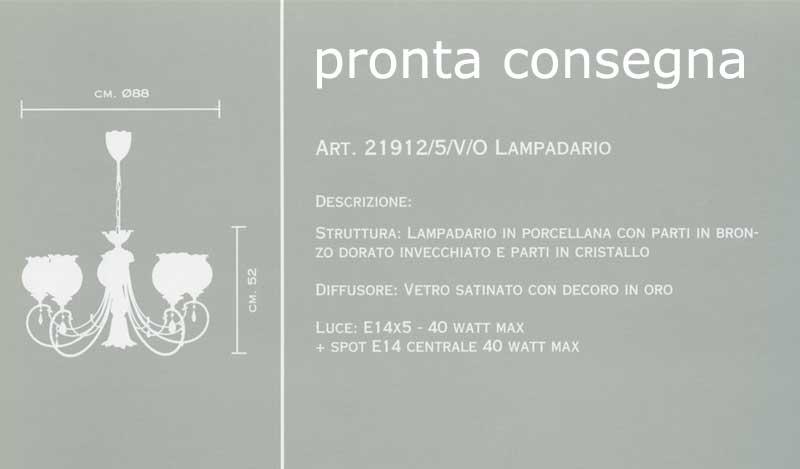 Lampadari classici : 21912/5/V/O di MANGANI