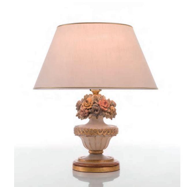 146 lume di chelini lampada da tavolo con paralume legno for Lumi da tavolo classici