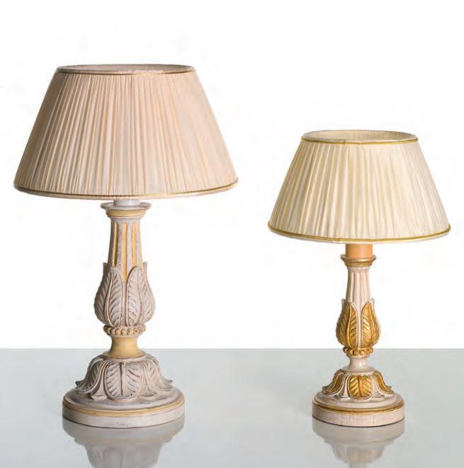 742 G e 742 P lumi di CHELINI. Lampade da tavolo con paralume. Legno ...