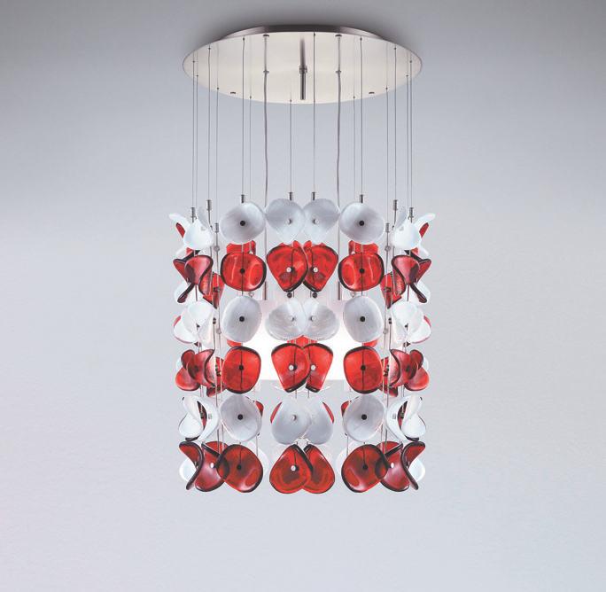 Sospensione La Murrina Mariposa/S50 bianco/rosso, sconto 50% - PRODOTTO ESAURITO