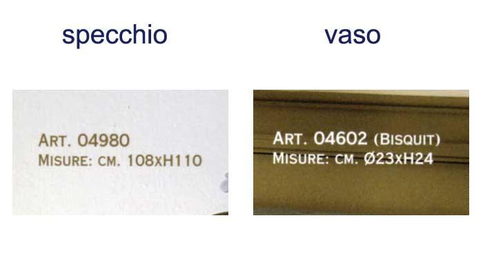 Specchiere 04980 e 04602 di mangani - Specchiere on line ...