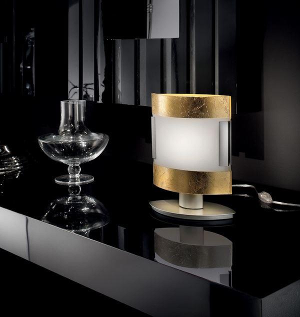 New york gold lt 1 232 di sillux lampada da tavolo - Lumi moderni ...