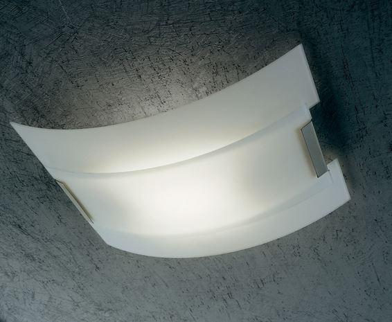 Plafoniera Vetro Satinato Bianco : New york ls di sillux plafoniera moderna vetro satinato