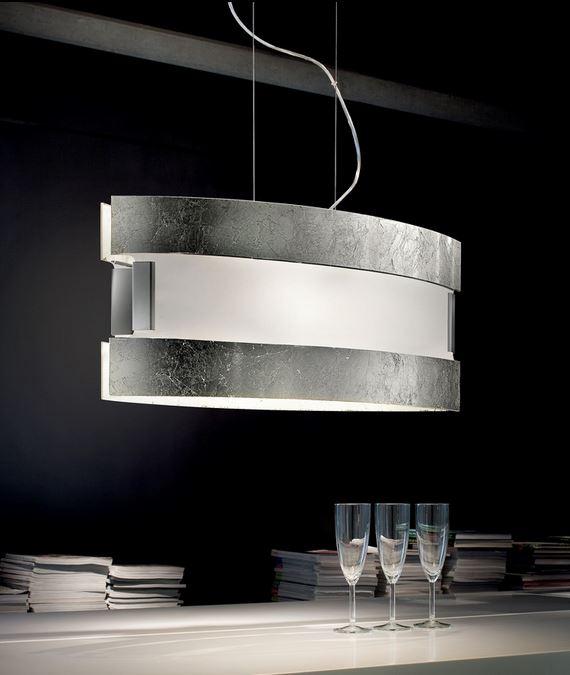 New York silver SP 8/232 di SILLUX: Sospensione moderna, vetro ...