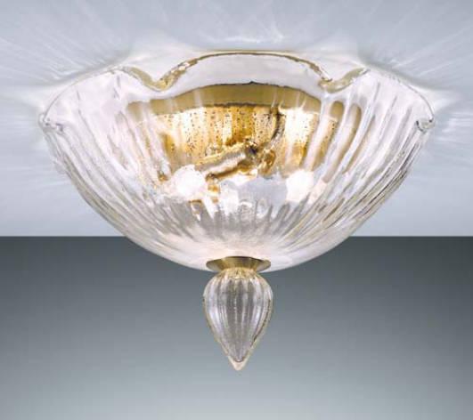 Lampada da soffitto La Murrina Parsifal R40 cristallo e oro, sconto 50% - 1 pezzo disponibile