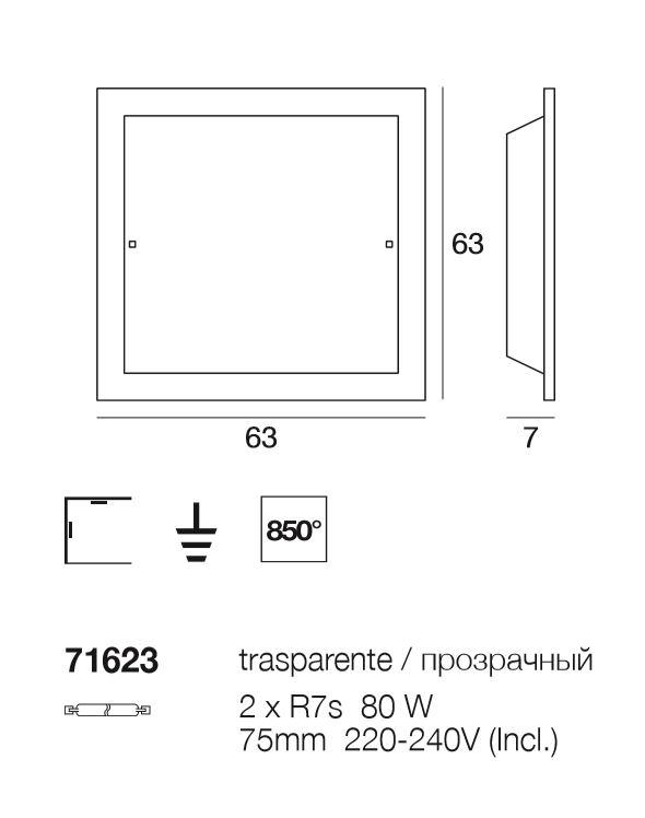 Outlet illuminazione plafoniera piana 71623 di for Oggettistica moderna on line