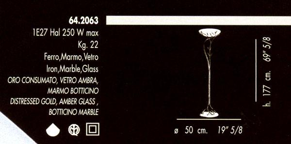 ... terra classiche : Piantana 64.2063 di BANCI - PRODOTTO NON DISPONIBILE