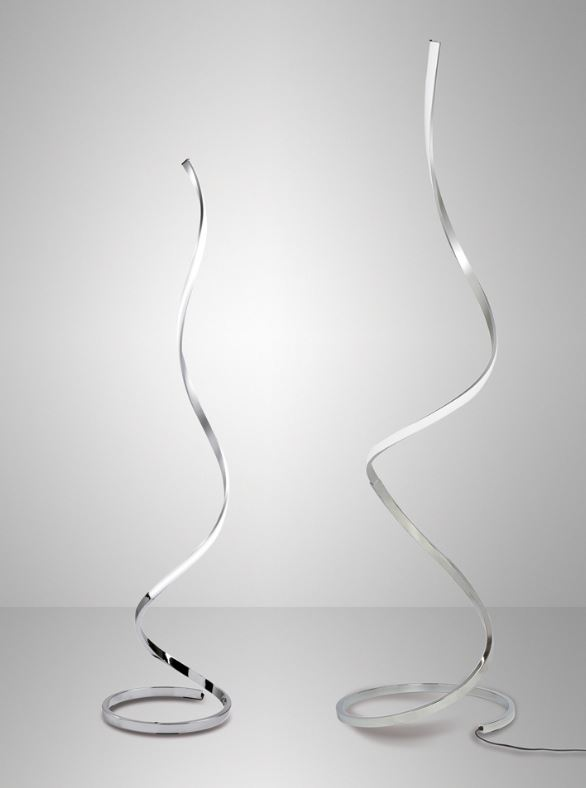 Tipologia: lampada da terra moderna Montatura e struttura in cromo ...