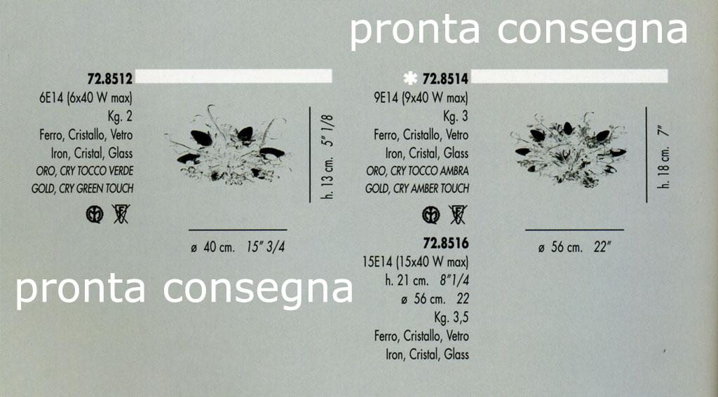 plafoniere banci : Plafoniere classiche : 72.8512 e 72.8514 di BANCI