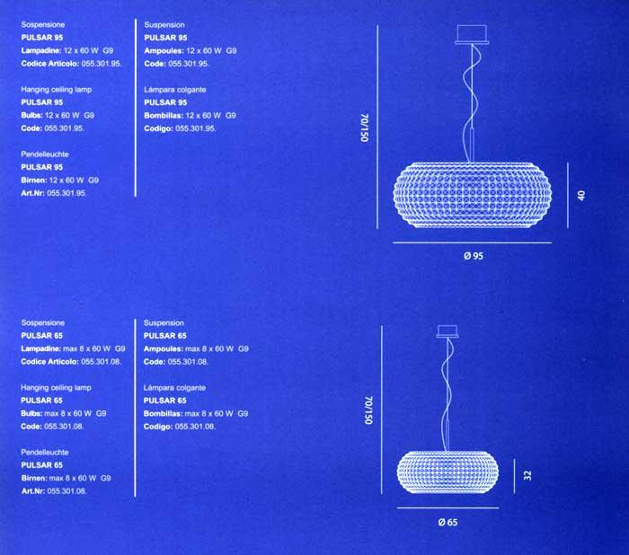 Pulsar di marchetti sospensione struttura metallo for Oggettistica moderna on line