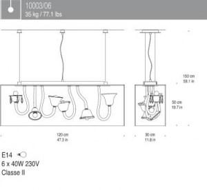 Curiosity Cabinet di A V MAZZEGA, 6 luci, sconto 50%, 1 pezzo disponibile Image 1