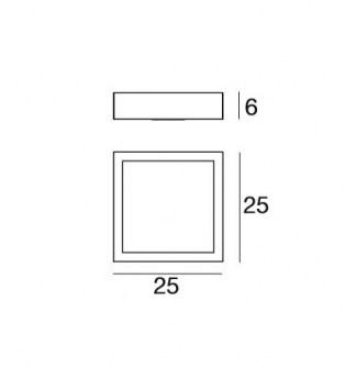Applique Plafoniera Frame 71908 di Linealight, sconto 50%, 2 pezzi disponibili Image 1