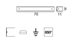 Applique moderna Mille led 7623 di Linealight, bianco inserti color nickel spazzolato, sconto 50%, 1 pezzo disponibile Image 1