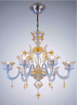Lampadario La Murrina 8 luci Puccini S8 anice e oro, sconto 50% - 1 pezzo disponibile Image 1