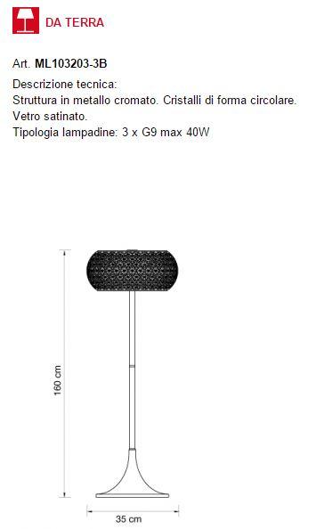 Star ml 103203 3b di illuminati piantana moderna for Oggettistica moderna on line